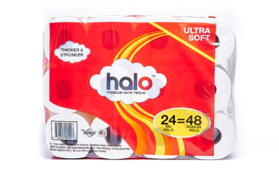 Halo 24/4 Pack Bundle (6/4 Packs) 200 Count 2-ply Bath