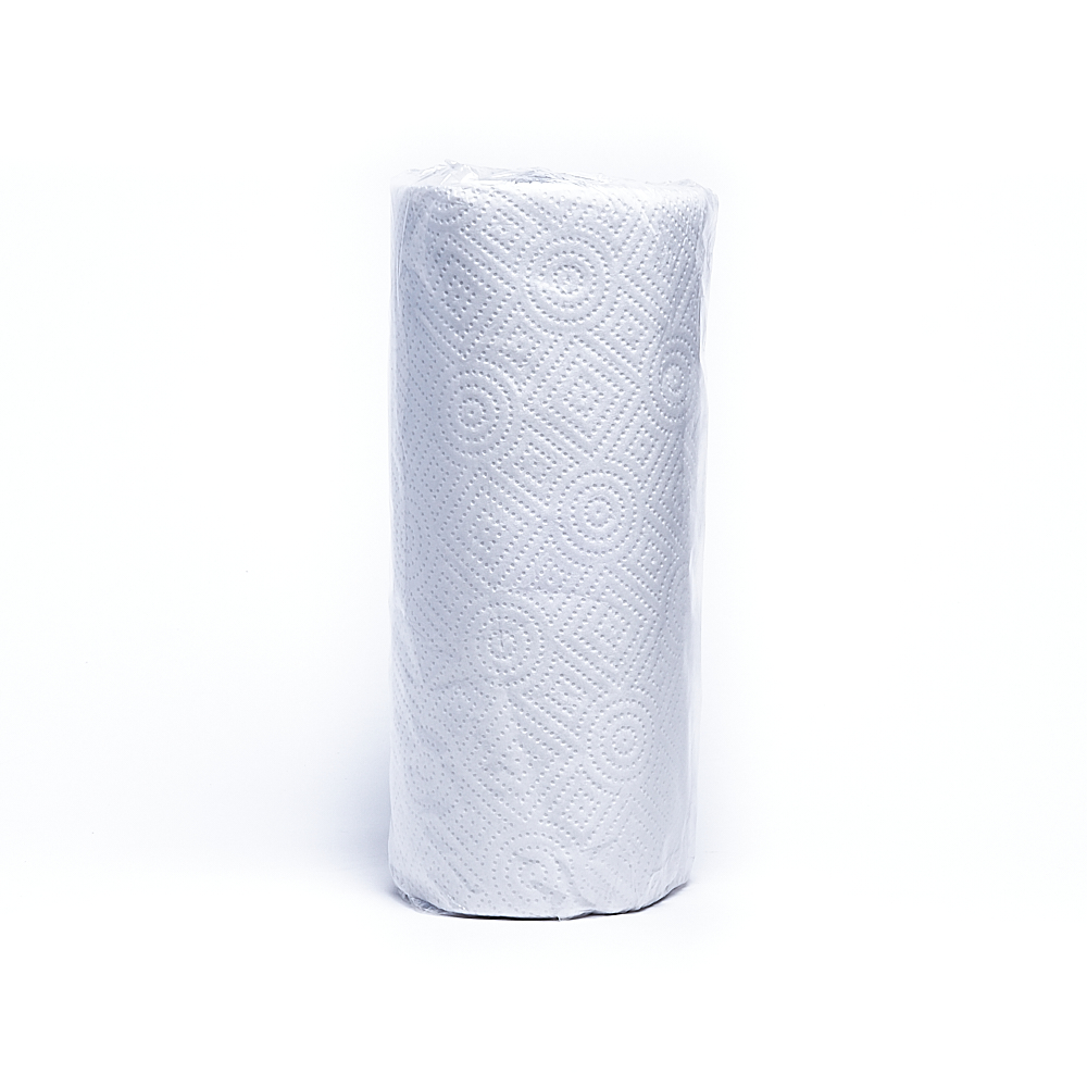 A private labelled paper towel roll