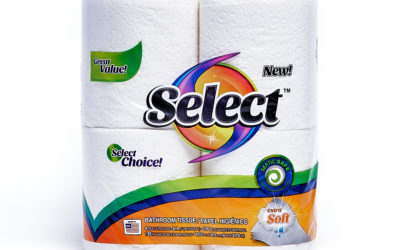 Select 135 Count 2-ply 4 Pack Bath