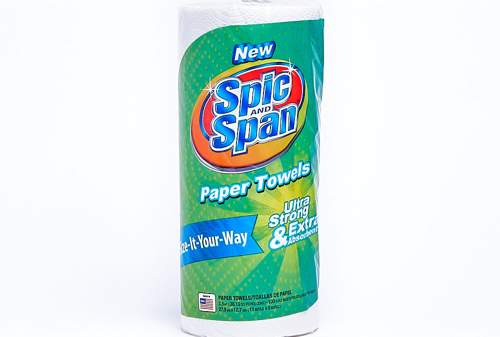 Spic & Span Towel 100 Count Single Roll – Regular Roll