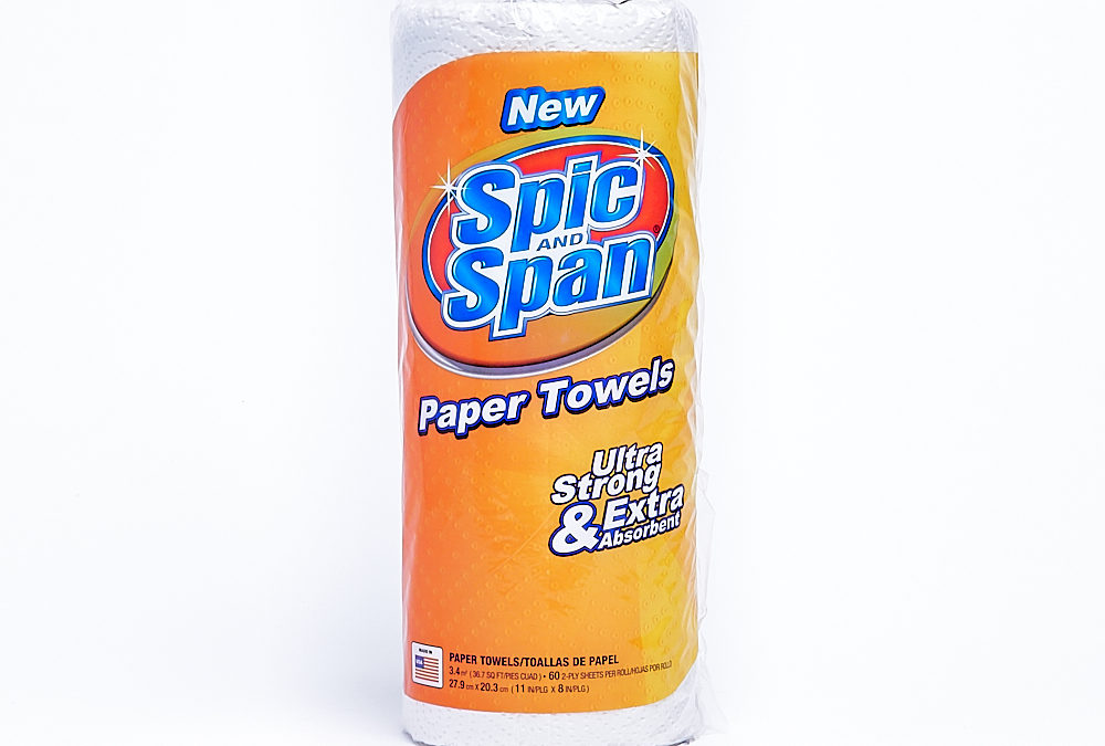 Spic & Span Towel 60 Count 15 Pack – Regular Roll